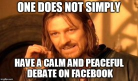 FB debate meme